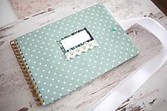 - Scrapbook album / kniha hostí s mašľou - 7691845_