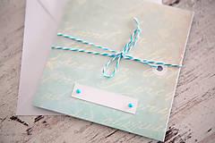 Papiernictvo - Pohľadnica - svadba/narodeniny - 7691960_