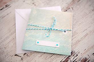 Papiernictvo - Pohľadnica - svadba/narodeniny - 7691962_