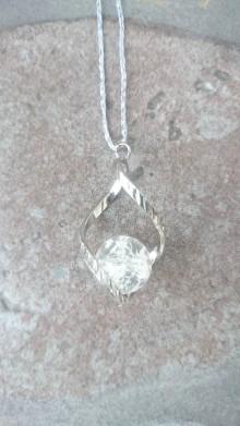 Iné šperky - Prívesok krištál vo vlnke - 7692338_