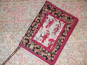 Úžitkový textil - Obal na knihu Romantika - 7692309_