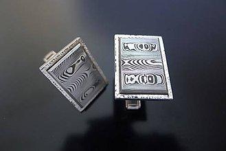 Iné šperky - Strieborné manžetové gombíky s damaškom - 7692460_