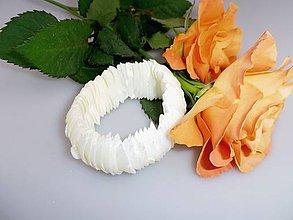 Náramky - biela snežná perleť náramok široký - 7692368_