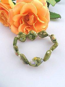 Náramky - ryolit náramok oranžové ruže - 7692578_
