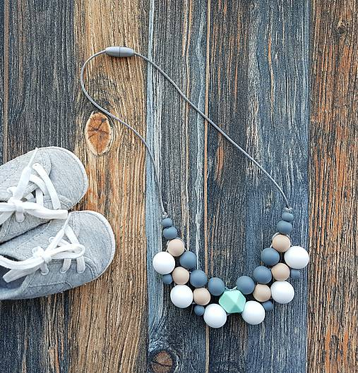 Náhrdelníky - Elegantný silikónový náhrdelník na dojčenie
