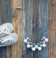 Náhrdelníky - Elegantný silikónový náhrdelník na dojčenie \