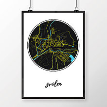 Grafika - ZVOLEN, okrúhly, čierny - 7692036_