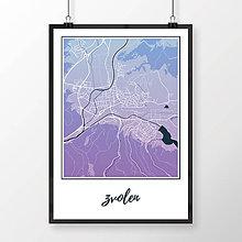 Grafika - ZVOLEN, klasický, modro-fialový - 7692198_