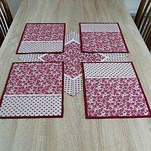 Úžitkový textil - Bordó na režnej - prestieranie 25x35 - 7692176_