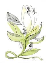 Obrázky - Flower and dwarfs 1, akvarel, kresba - 7691696_