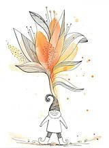 Obrázky - Flower and dwarfs 2, akvarel, kresba - 7691699_
