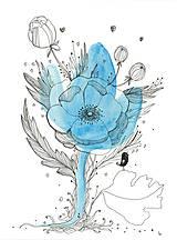 Obrázky - Kvetiny III, akvarel, kresba - 7691730_
