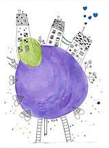Obrázky - Funny houses 1, akvarel, kresba - 7691942_