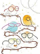 Obrázky - Happy birds, akvarel, kresba - 7692094_
