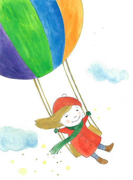 Flying time, akvarel, kresba