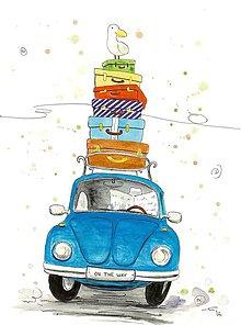 Obrázky - On the way 2, akvarel, kresba - 7692463_