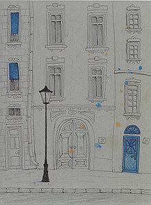 Obrázky - Street, akvarel, perokresba na kartóne - 7693902_