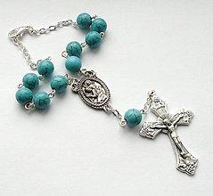 Iné šperky - Růženec do auta se Svatým Kryštofem (tyrkenit) - 7691546_