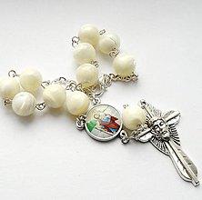 Iné šperky - Růženec do auta se Svatým Kryštofem (PERLEŤ) - 7693576_
