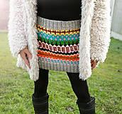 Pletená sukňa-mini