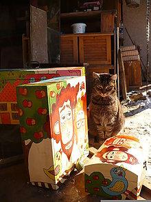 Krabičky - Drevená truhlička - 7693364_