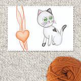 Papiernictvo - Mačička a srdiečko 2 - 7694495_