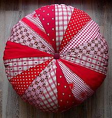 Úžitkový textil - červený podsedák PUF - 7694672_