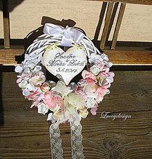 Dekorácie - svadobný veniec..s dátumom - 7690771_