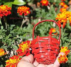 Darčeky pre svadobčanov - mini červené košíčky - 7696673_
