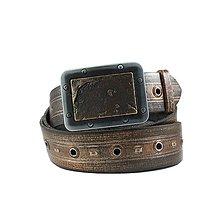 Opasky - kreatívny, kožený opasok Noah's Ark - 7696142_