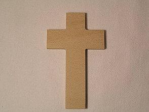 Polotovary - Drevený krížik na objednávku - 7694839_