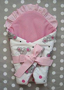 Hračky - Zavinovačka pre bábiku s myškami - 7696009_