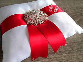 Úžitkový textil - Vankúš pod obrúčky - 7696698_