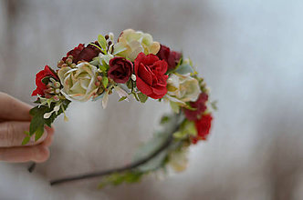 Ozdoby do vlasov - Vôňa červených ruží... - 7695919_