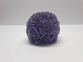 Darčeky pre svadobčanov - Levanduľové mydlo v tvare ruží - 7695993_