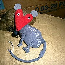 Hračky - Zamilovaná myš - 7696484_