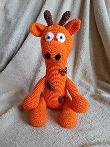 Hračky - Háčkovaná žirafa. - 7696328_