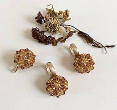 Sady šperkov - Ručne šitý set Swarovski - 7696050_
