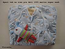 - Spaci vak na zimu pre deti 100% Merino Top s kašmírom MACKO  - 7695282_