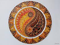 Dekorácie - Mandala Jin a Jang - 7697035_