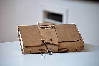 Papiernictvo - kožený zápisník - receptár KULINARIO - 7696768_