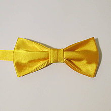 Doplnky - jednofarebný pánsky motýlik - AKCIA 4€/ks (žltý) - 7698575_