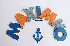 Tabuľky - Hociaké meno z drevených písmen MAXIMKO - 7697149_