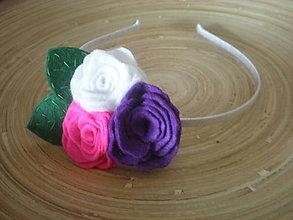 Ozdoby do vlasov - Dievčenská čelenka Ruže - 7696141_