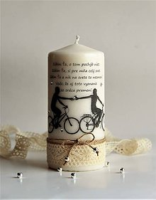 Svietidlá a sviečky - Dekoračná sviečka - valentínka III. - 7698108_