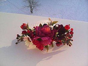 """Ozdoby do vlasov - Kvetinový hrebienok do vlasov """"...šťastný deň..."""" - 7695452_"""