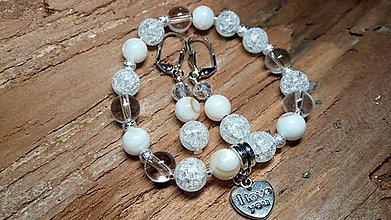 Sady šperkov - Valentínska súprava šperkov - achát, krištáľ - 7695920_