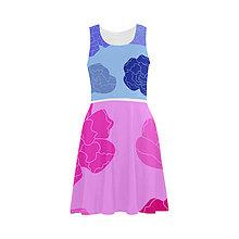 Šaty - Nové šaty : Gerberové modroružové - 7696335_