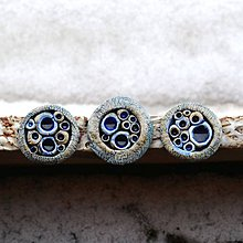 Materiál ručne robený - Kameninový kabošon 3-4 cm - Prvoci - 7696201_