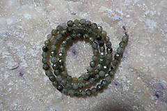 Minerály - Labradorit fazetovaný sv. 4mm - 7698234_